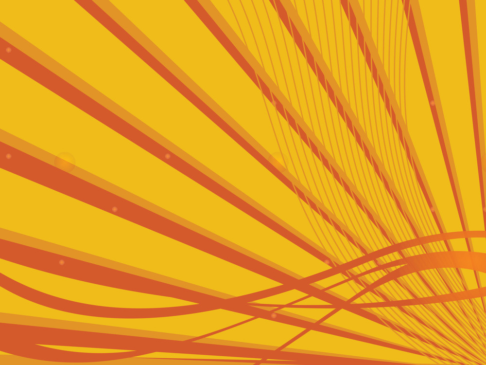 Sun Burst With Wave Isolated On Yellow