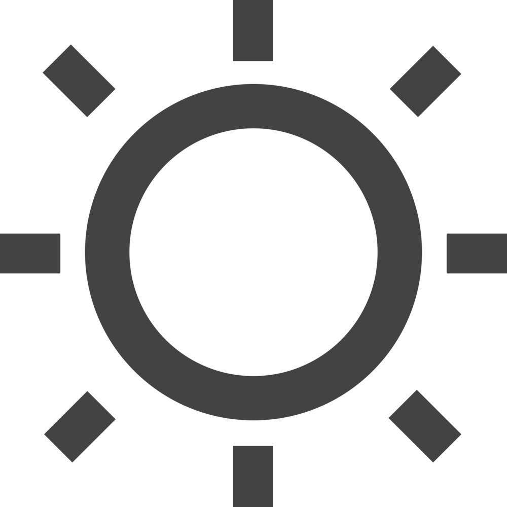 Sun Glyph Icon