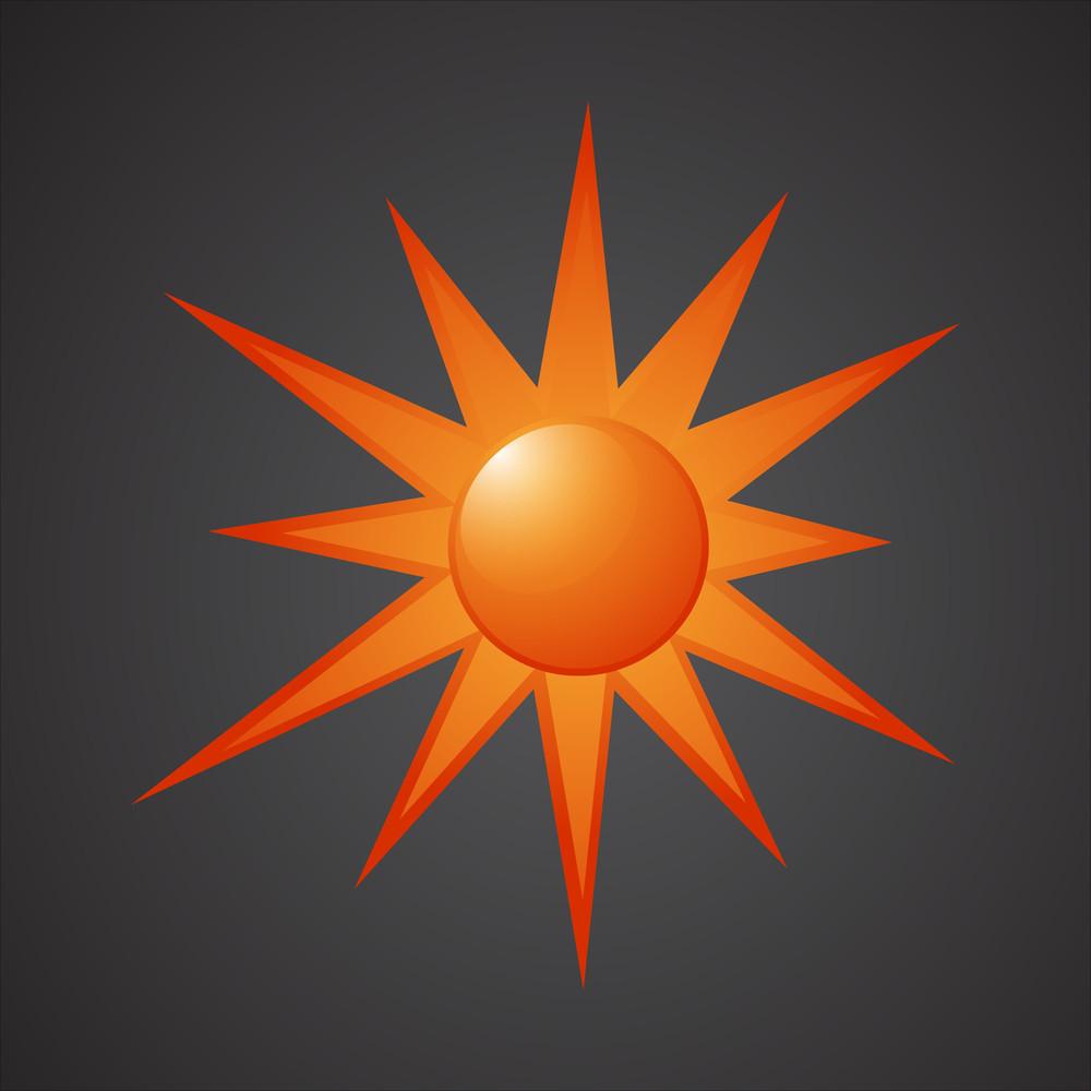 Sun Icon Vector Design
