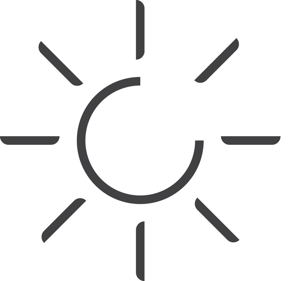 Sun Minimal Icon