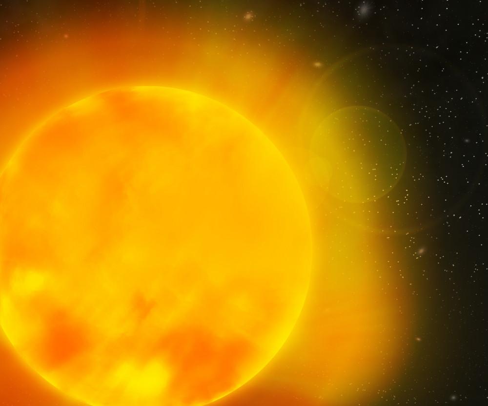 Sun Nebula Space Backdrop