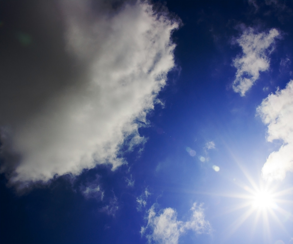 Sun On Sky Backdrop