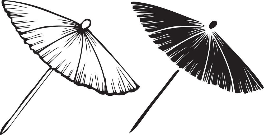 Sun Umbrella Vector Element
