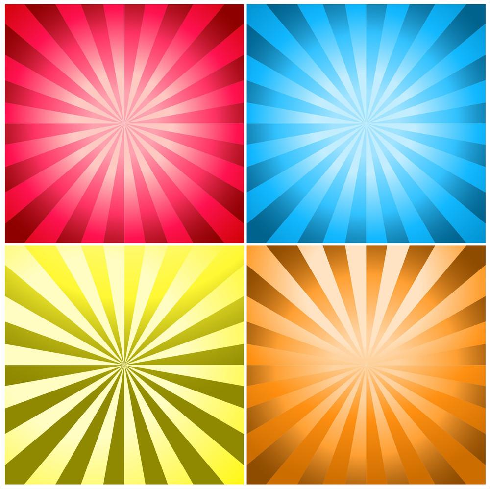 Sunburst Background Vectors