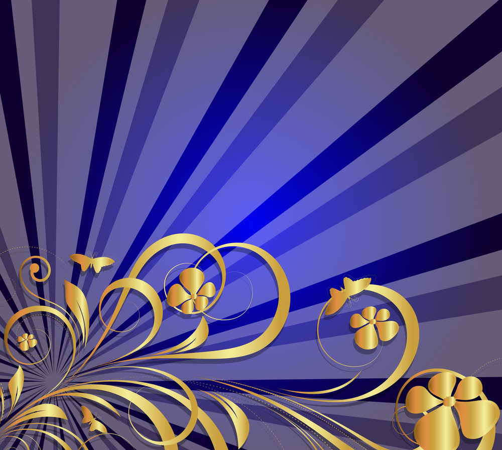 Sunburst Flora Background