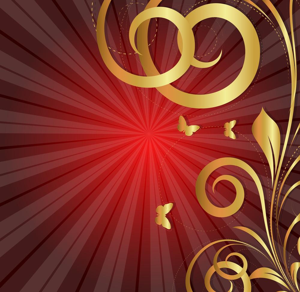 Sunburst Flourish Background