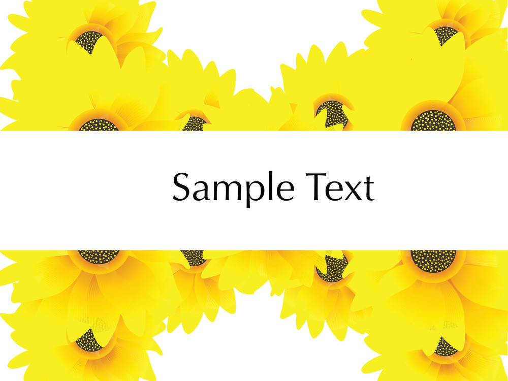 Sunflowers And Sample Text