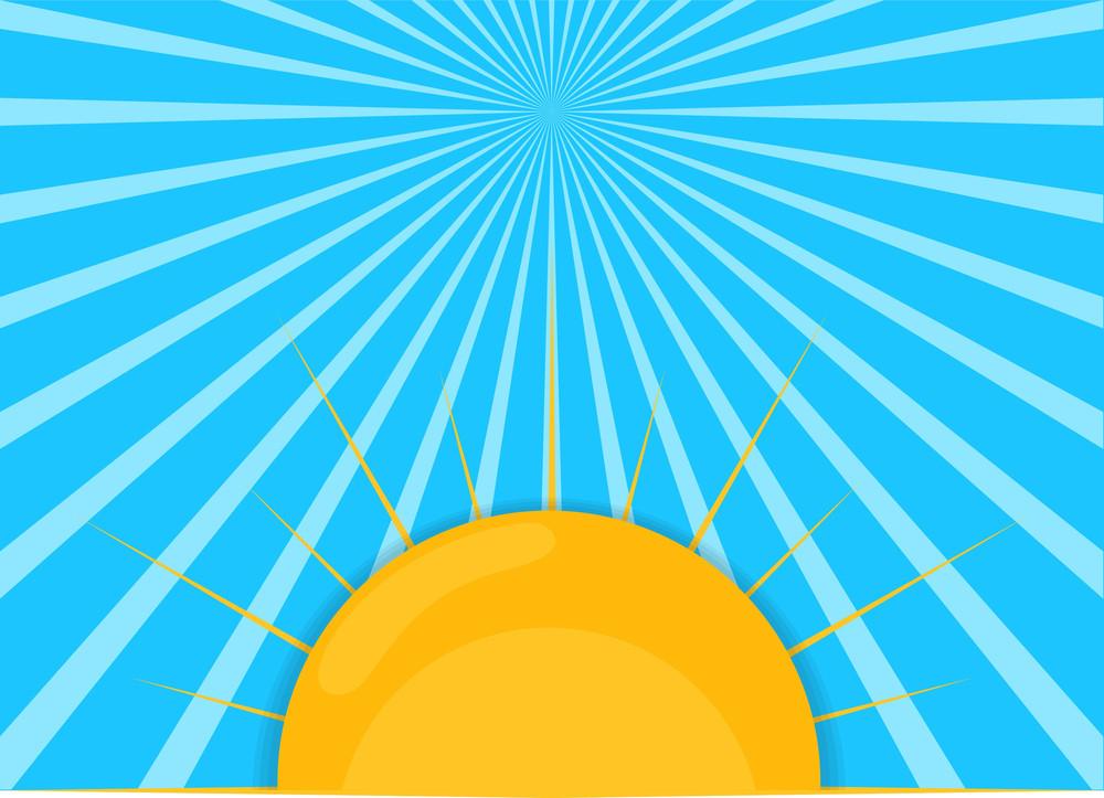 Sunrays Vector Background