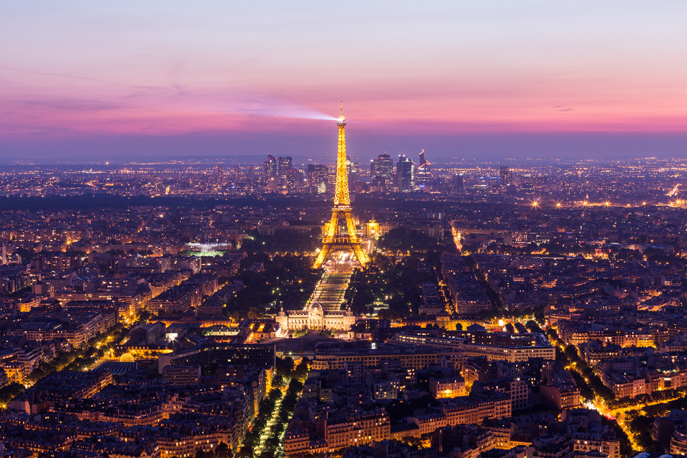 Sunset Eiffle Tower. Paris. France