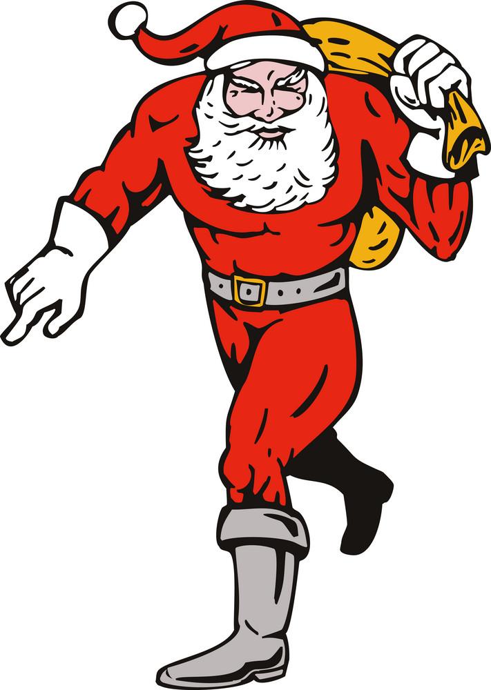 Super Hero Santa Claus Running