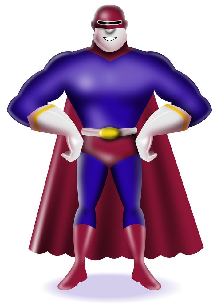Super Hero Standing Retro