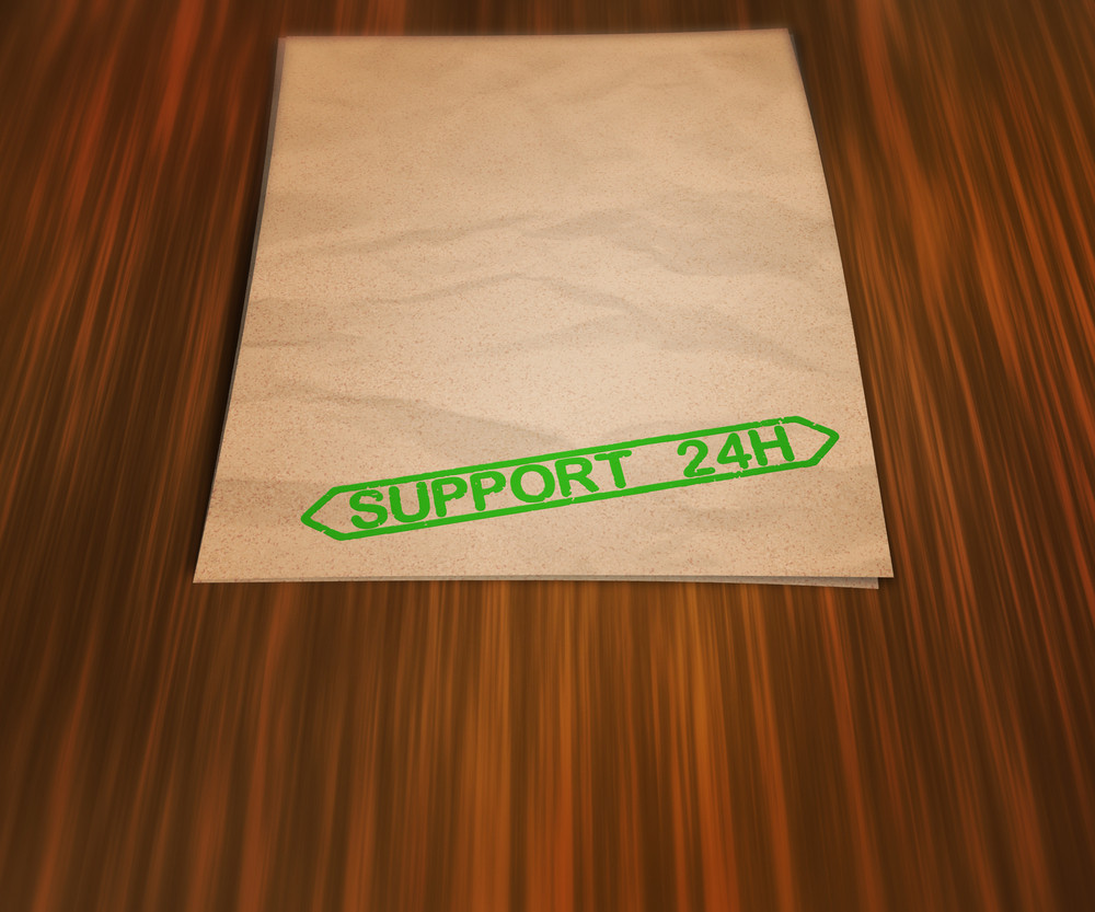 Support 24h Document On The Table