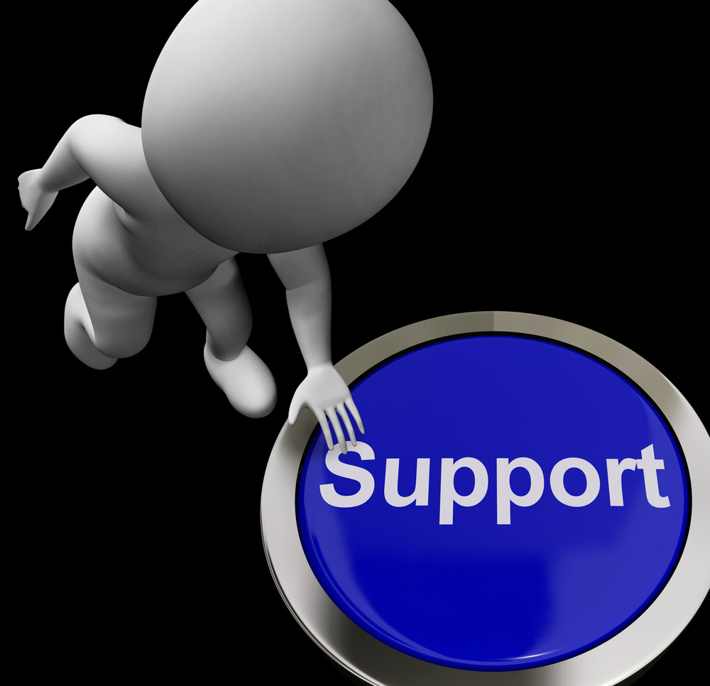 Support Button Shows Help Faq And Assistance