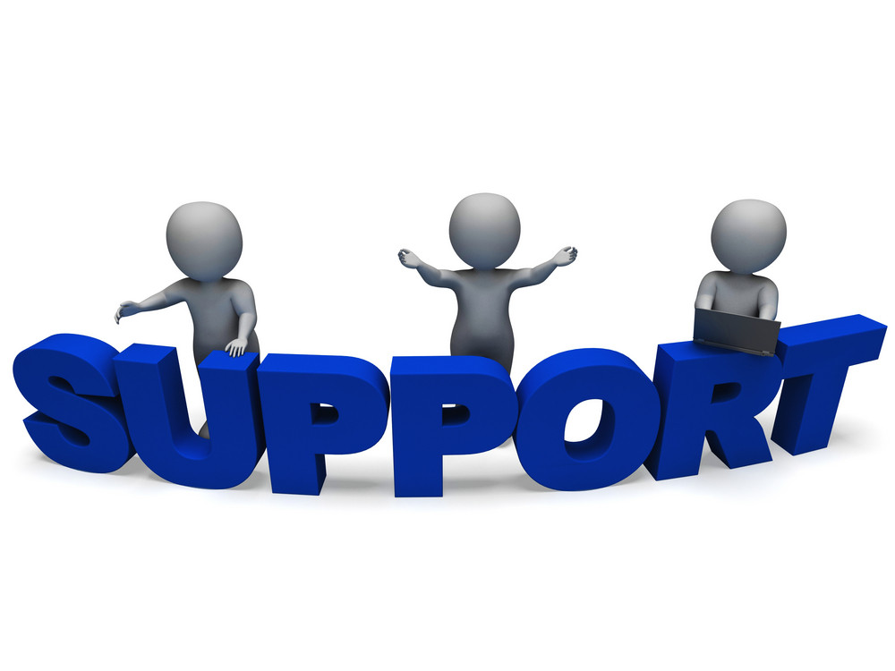 Support Word Shows Assistance And Help