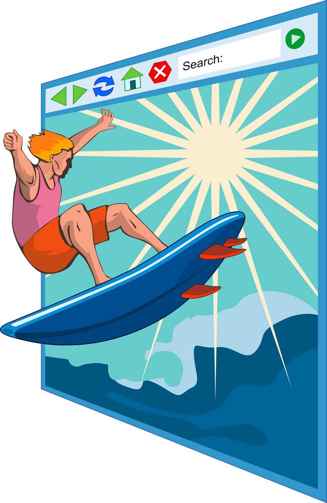 Surfer On Net Window