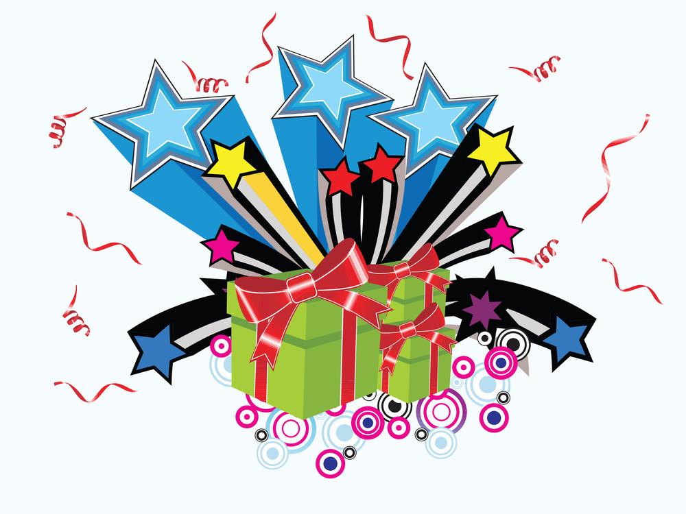 Surprise Gift Vector Wallpaper