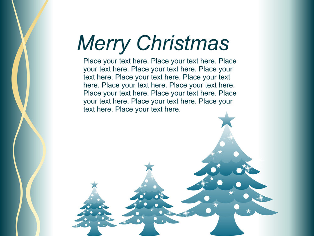 Sweet Christmas Card With Tree Vector