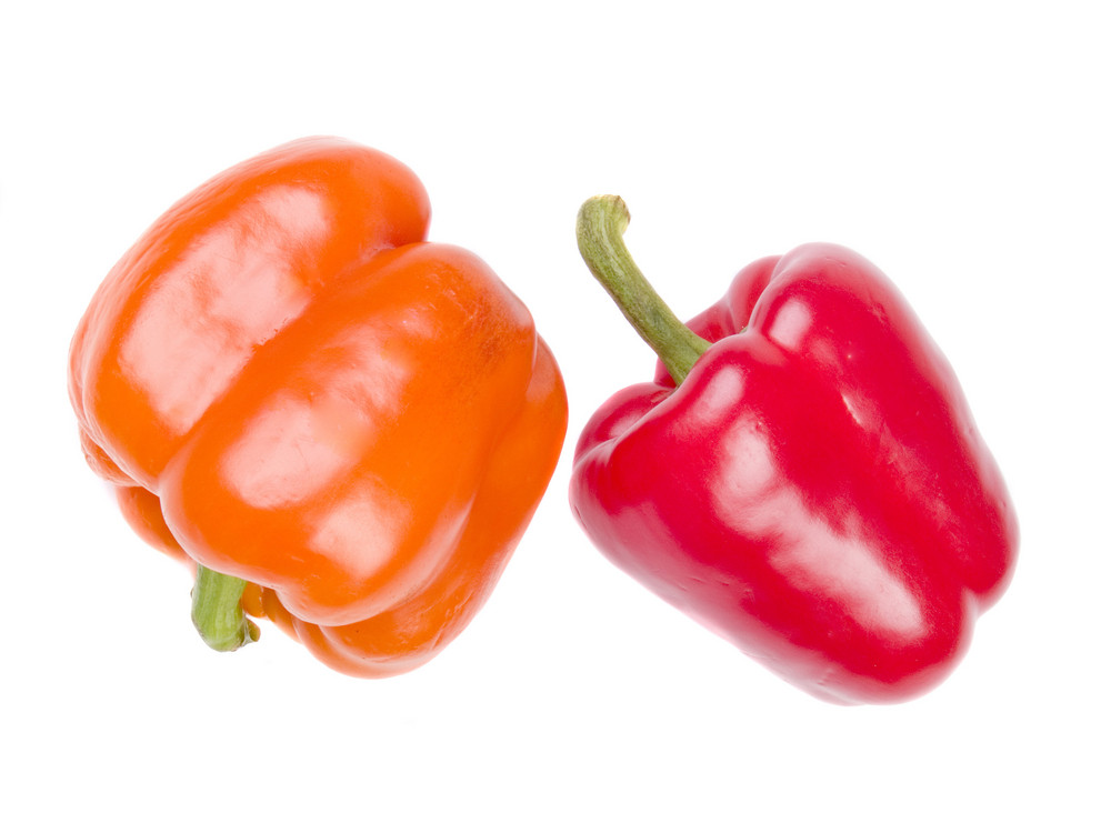 Sweet Pepper Isolated On White
