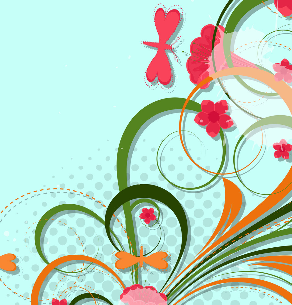 Swirl Abstract Floral