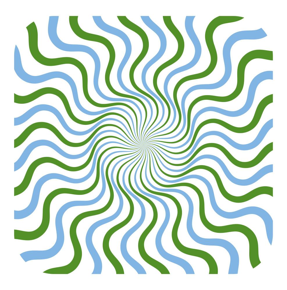 Swirl Colored Sunburst
