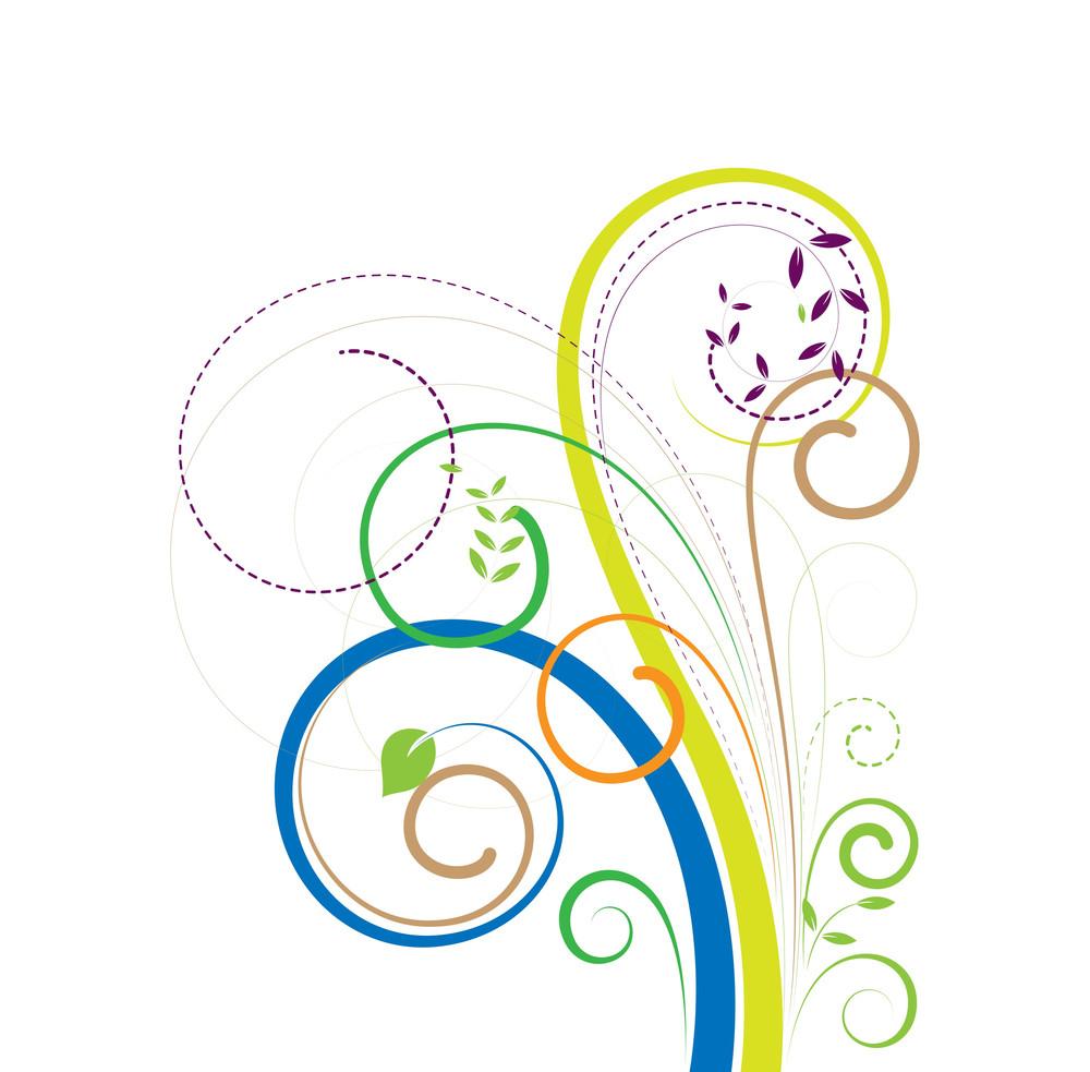 Swirl Colorful Decorative Elements