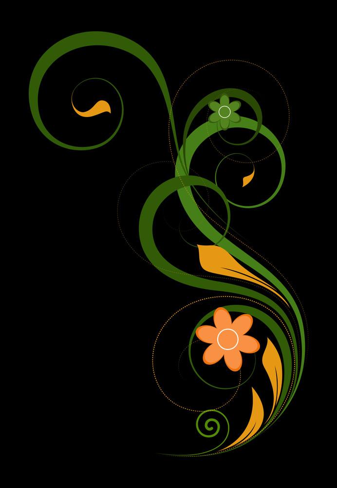 Swirl Decorative Floral Art