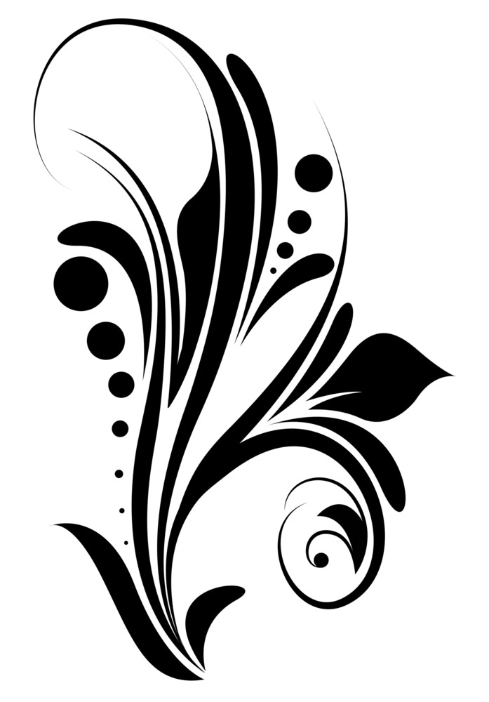 Swirl Design Floral Elements