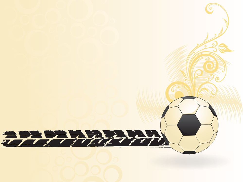 Swirl Design Football With Road Sign Background