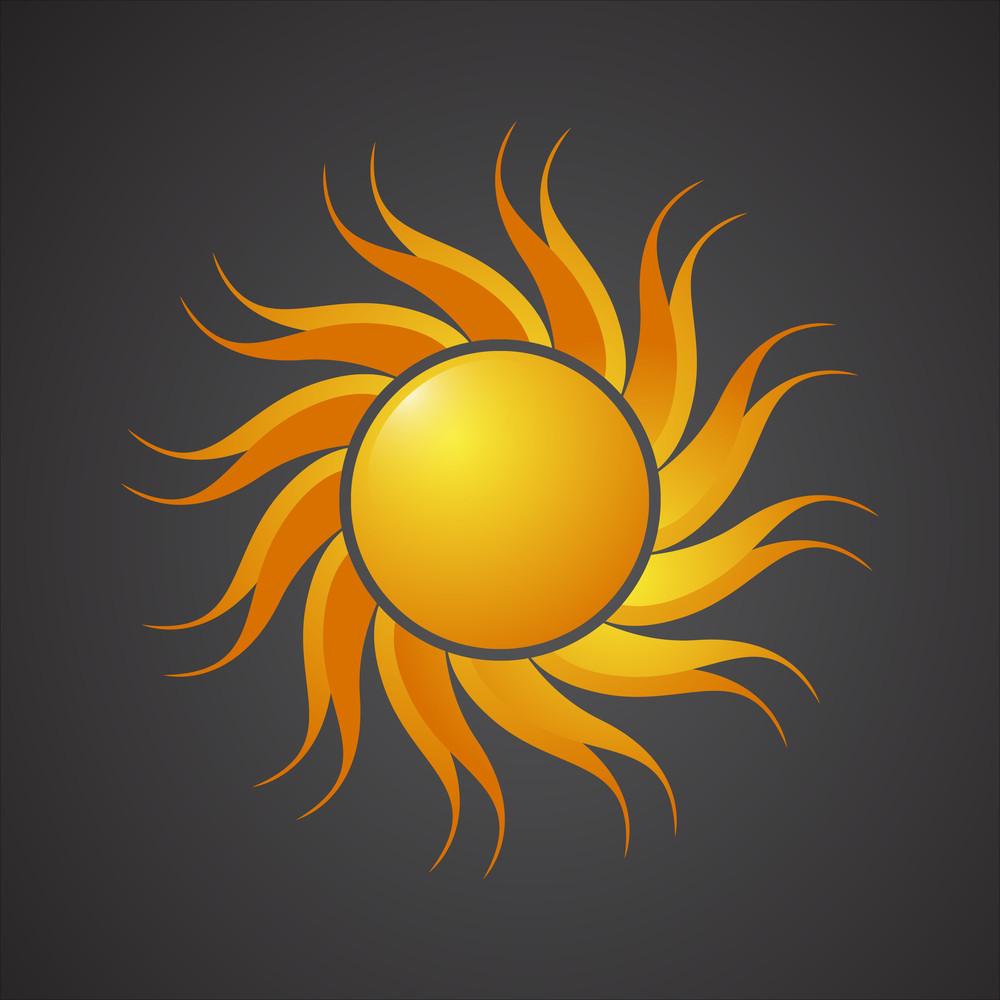 Swirl Design Sun