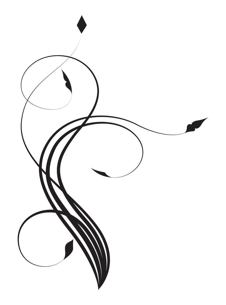Swirl Floral Elements Design