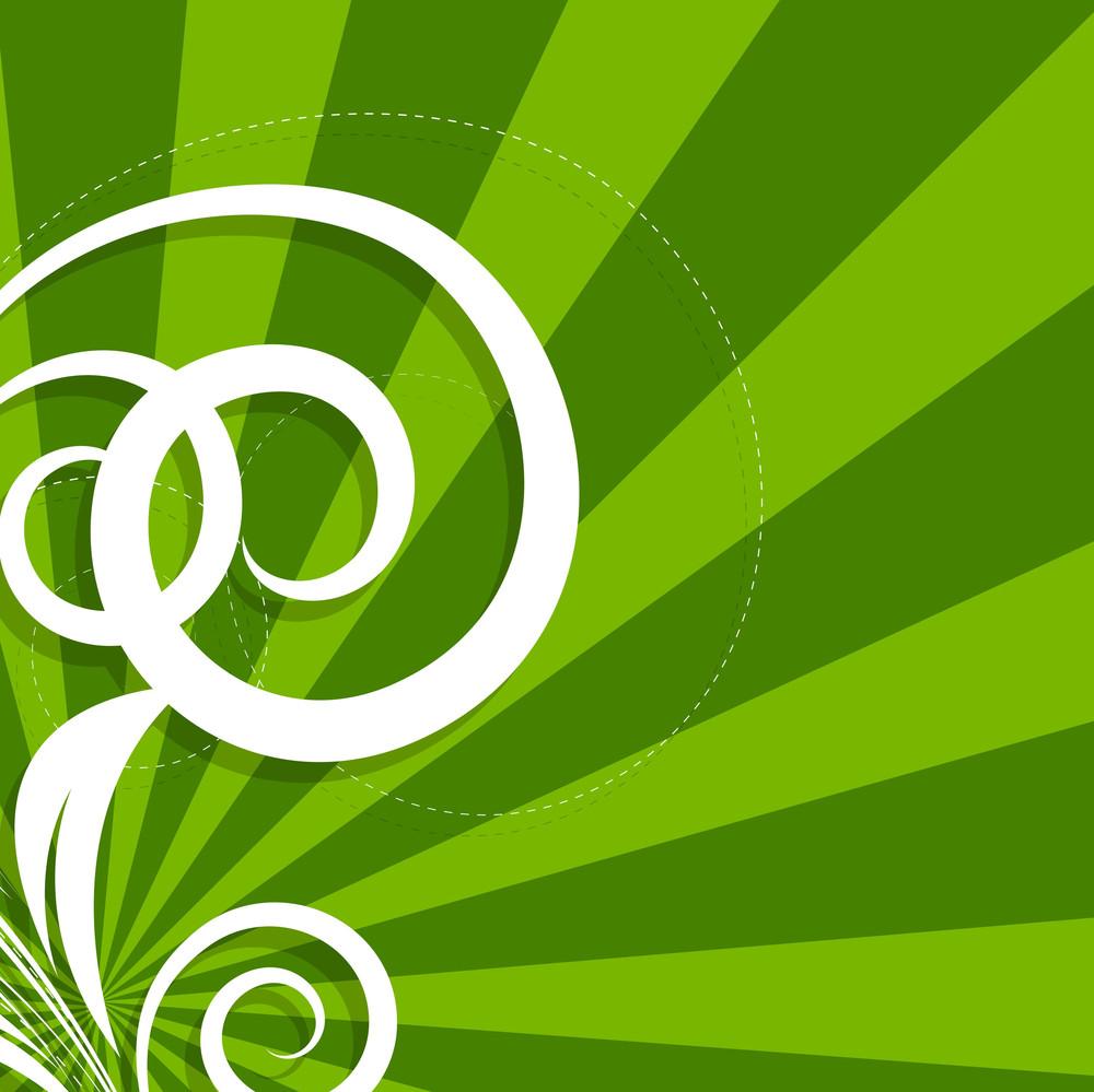 Swirl Floral Sunburst Background