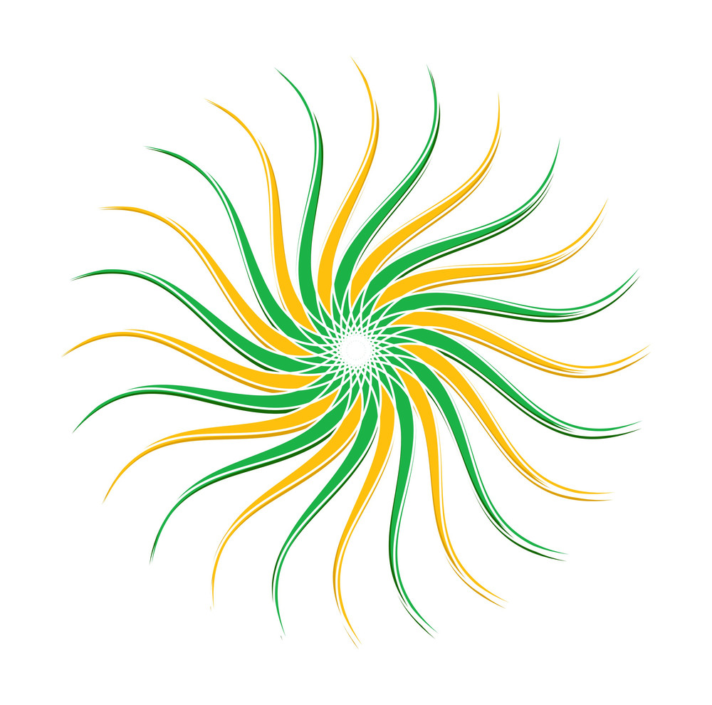 Swirl Floral Sunburst