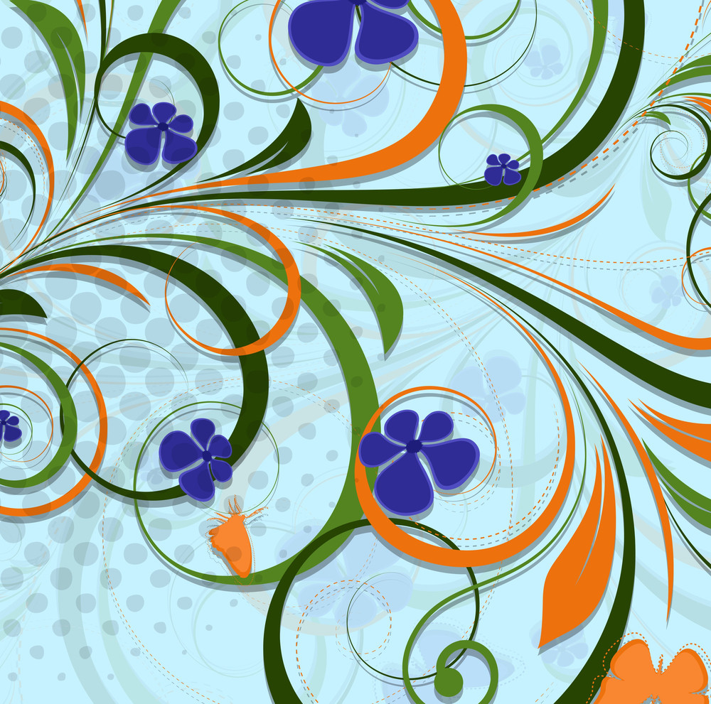 Swirl Flourish Backdrop