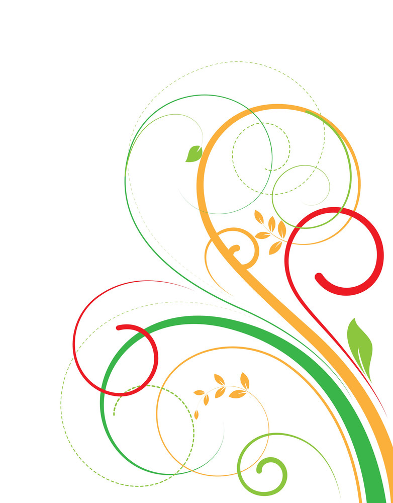 Swirl Flourish Elements Design