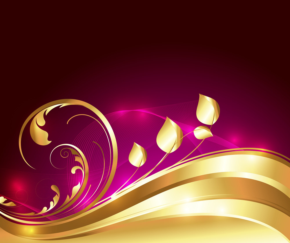 Swirl Golden Flourish Background