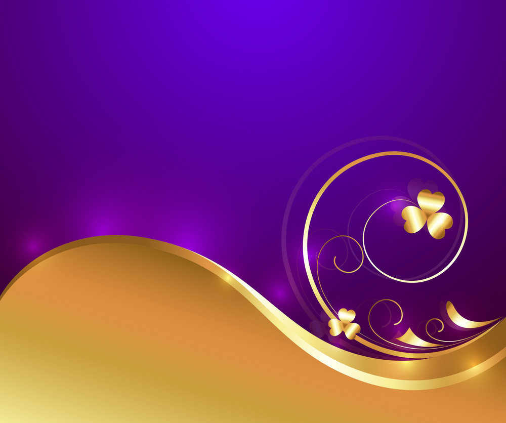 Swirl Golden Wavy Flourish Design