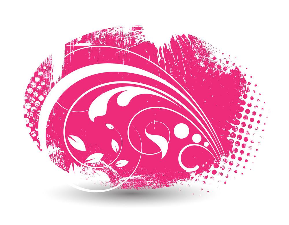Swirl Halftone Flourish Design