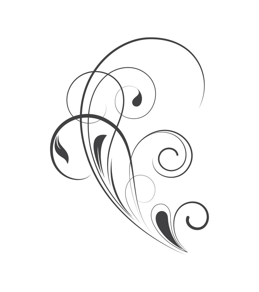 Swirl Ornate Flourish Design
