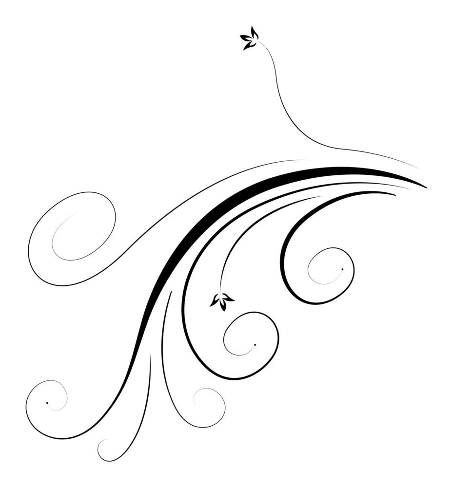 Swirl Ornate Flourish Element