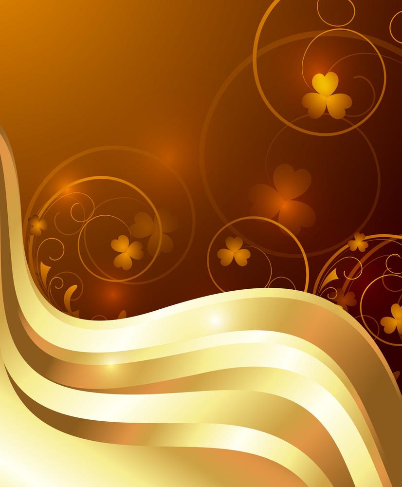 Swirl Royal Floral Vector Backdrop