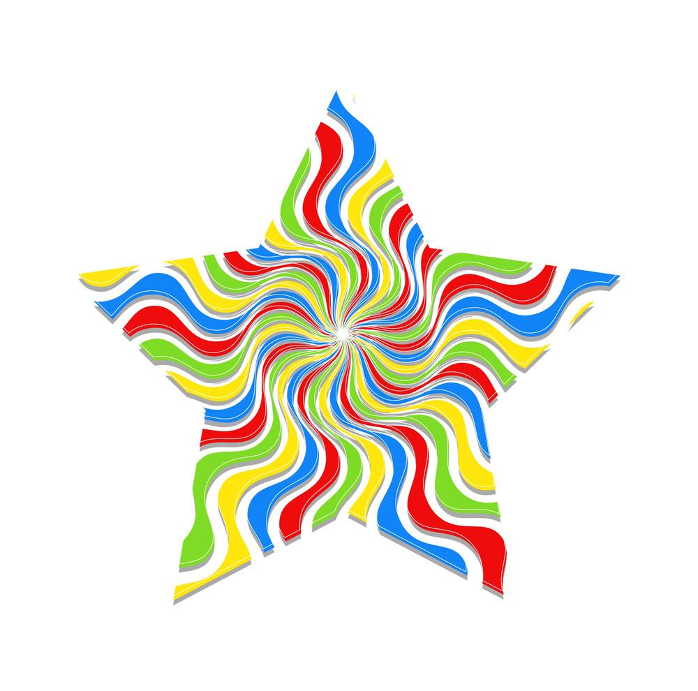 Swirl Sunburst Christmas Star