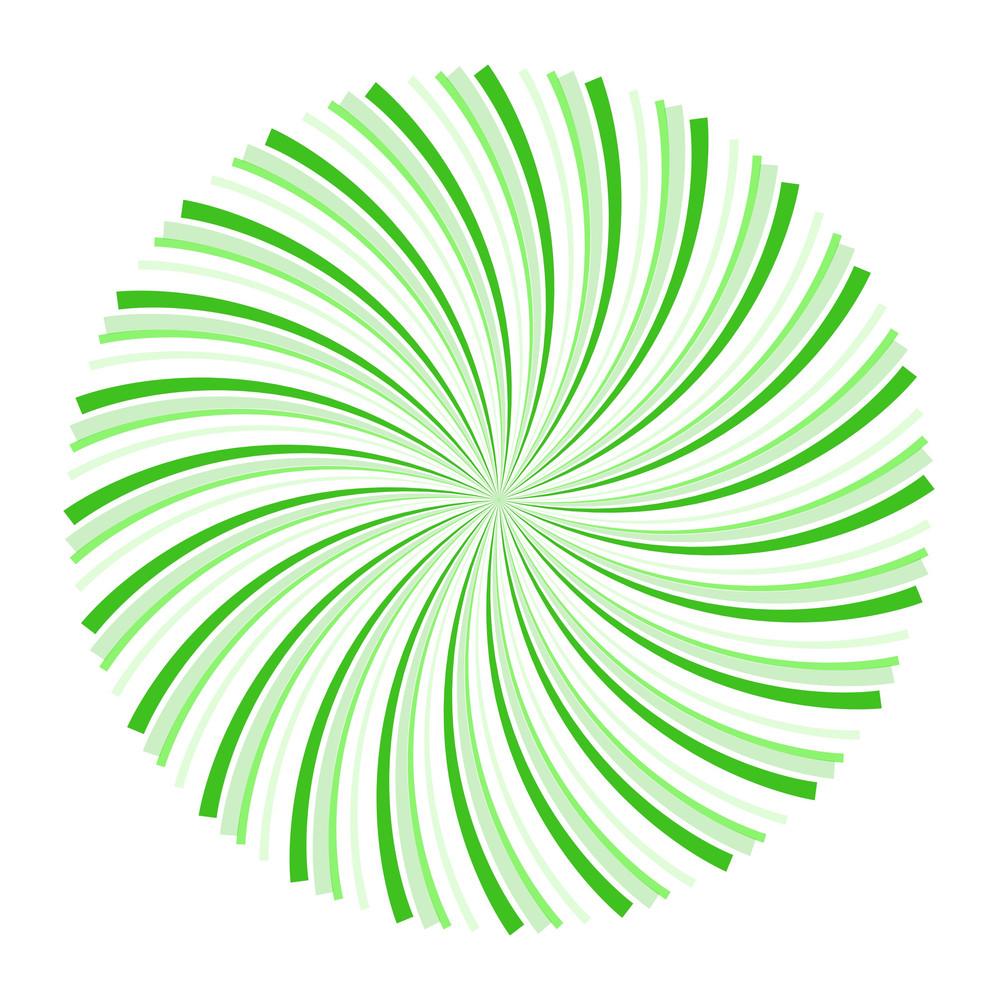 Swirl Sunburst Circle
