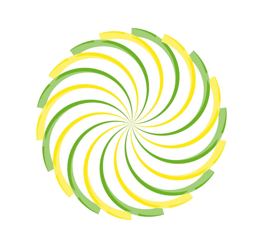 Swirl Sunburst Design