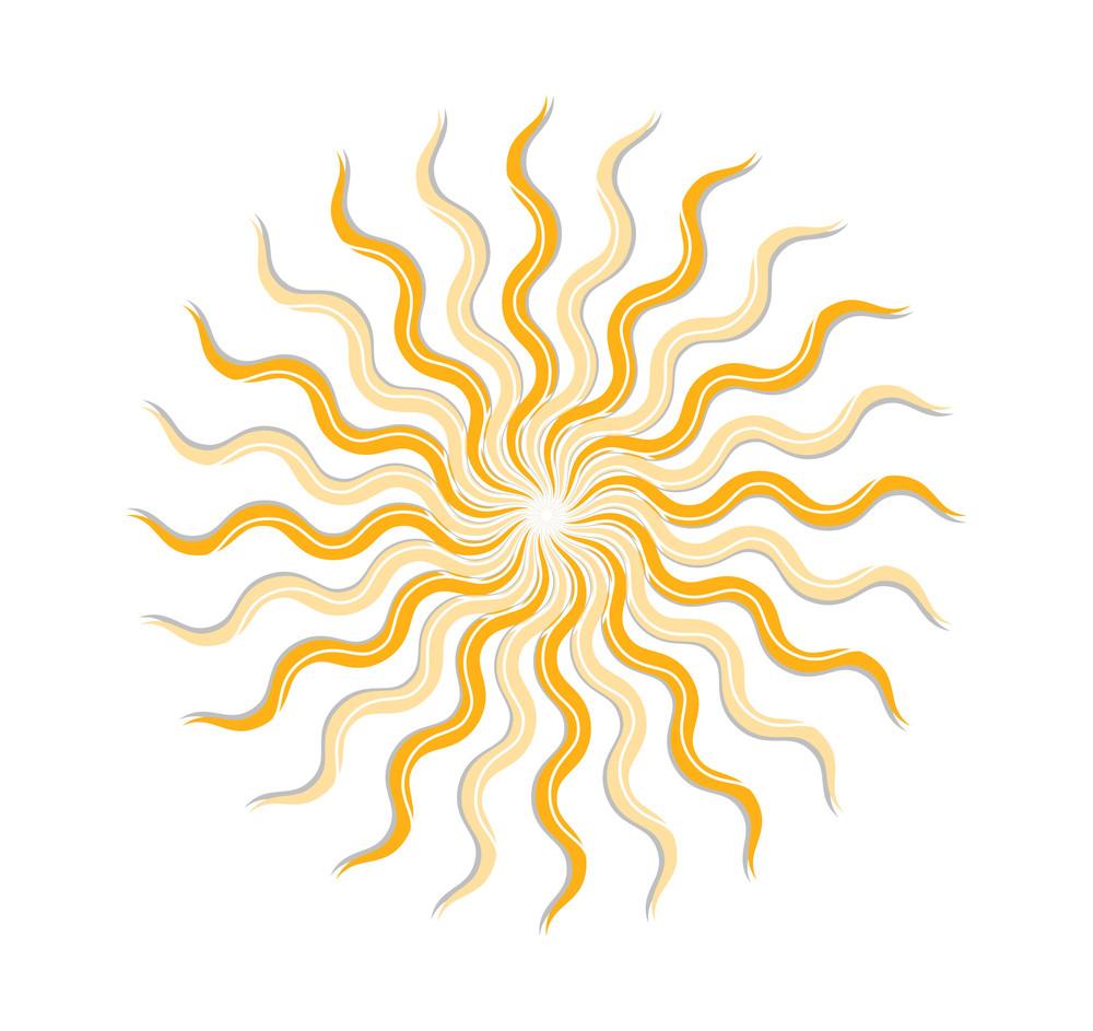 Swirl Vintage Sunburst Design
