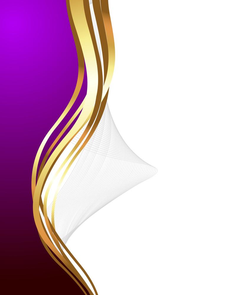 Swirl Wave Golden Banner