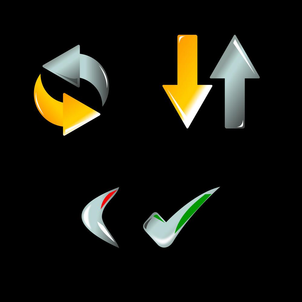 Sync Share Icon Set