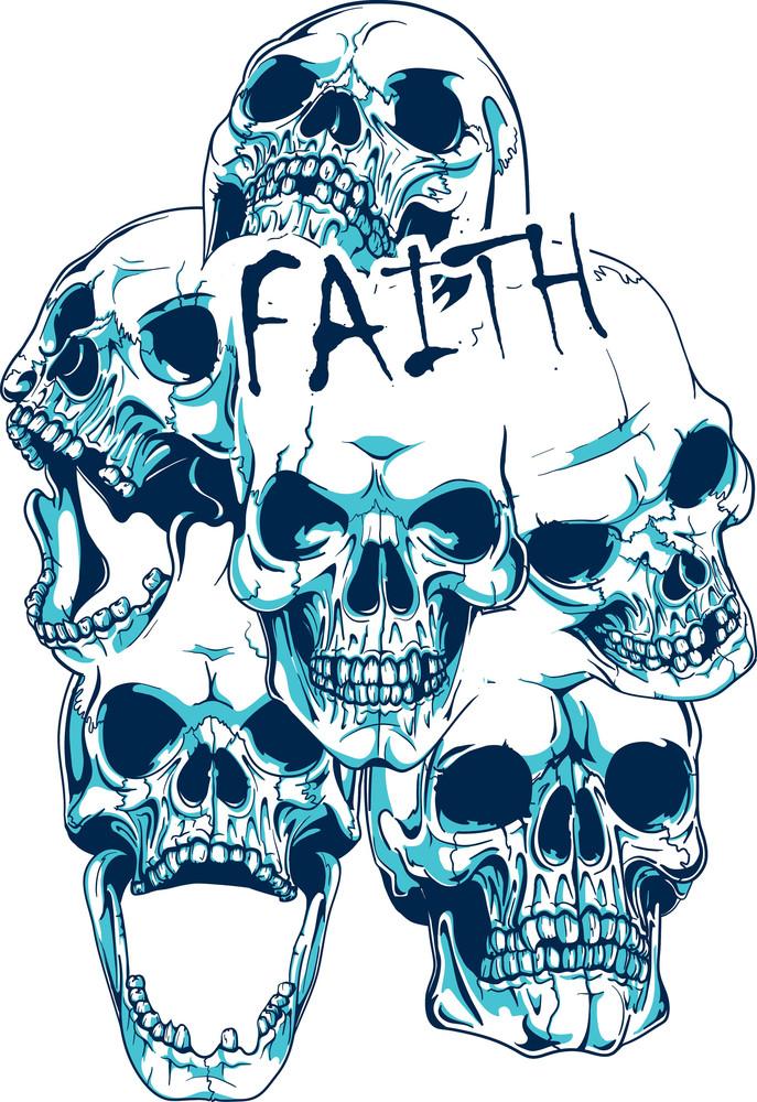 T-shirt Design With Skulls