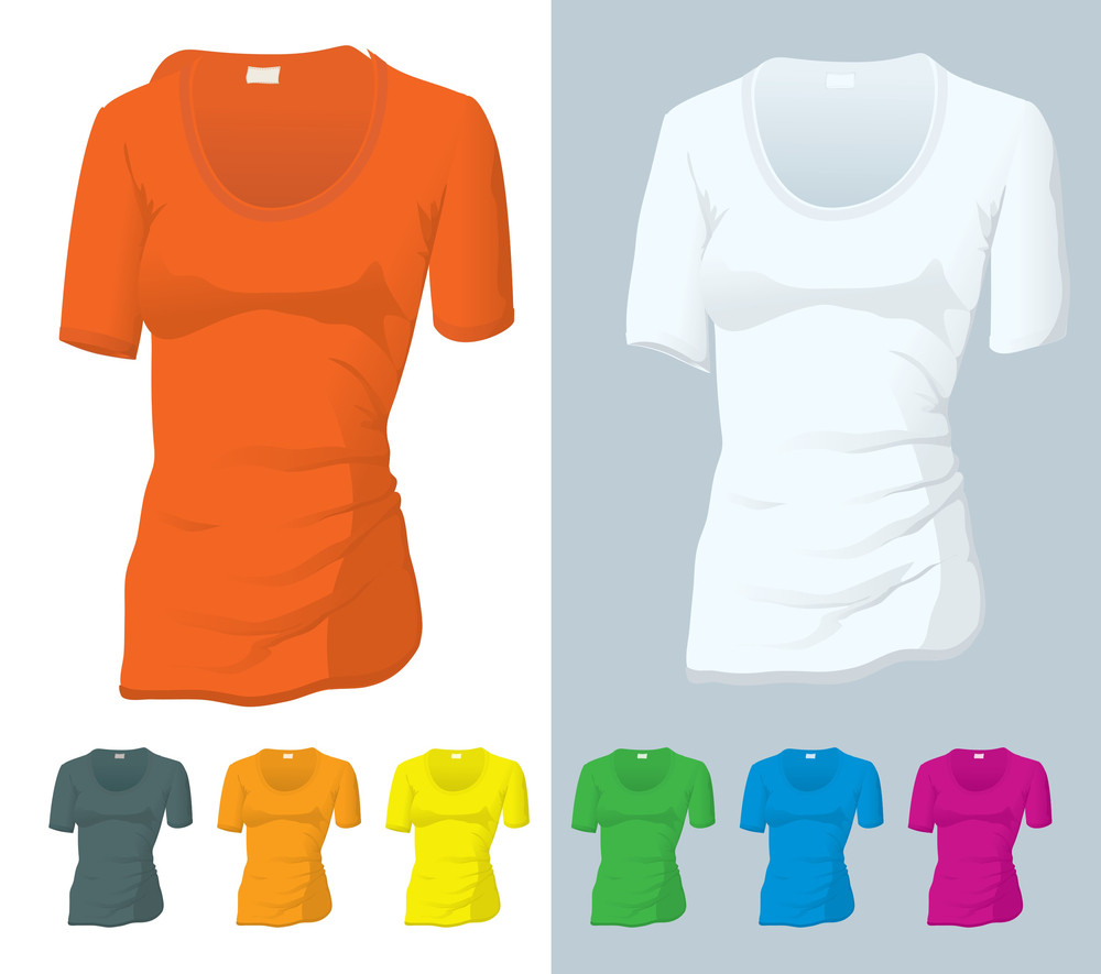 T-shirt Vector Templates.