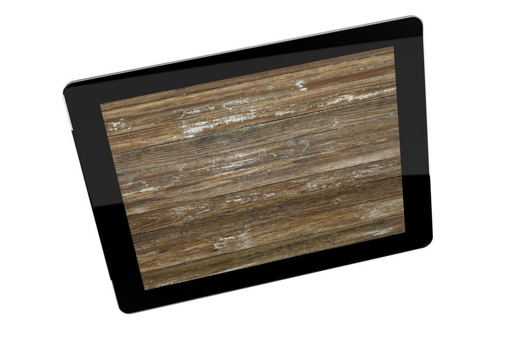 Tablet Wood Wallpaper