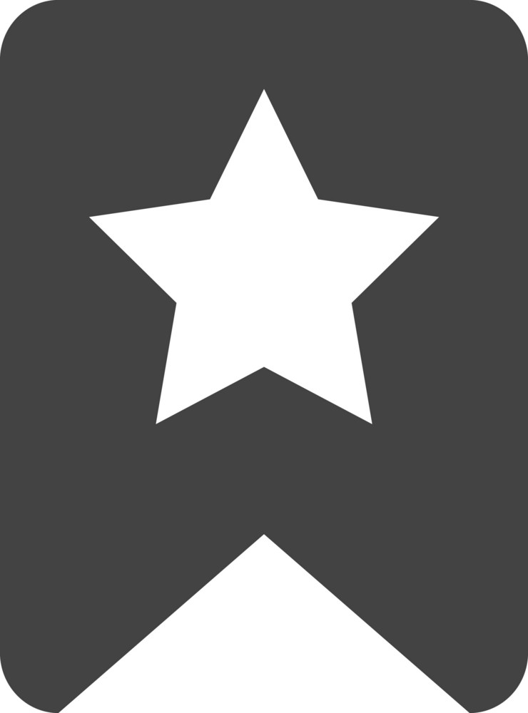 Tag Star Glyph Icon